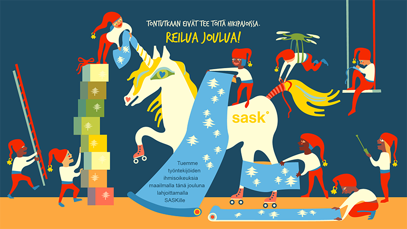 SASK Joulukortti 2018 Pirita Tolvanen